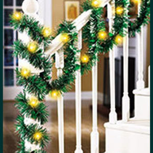 collections greatestbuys Holiday - Fun foil garland lighted garland Great indoors and